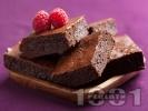 Рецепта Лесен шоколадов сладкиш със сметана и малини